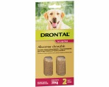 DRONTAL ALLWORMER CHEWABLE FOR LARGE DOGS UP TO 35KG 2 PACK