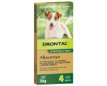 DRONTAL ALLWORMER TABLETS FOR SMALL DOGS UP TO 3KG 4 PACK
