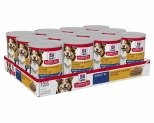 HILL'S SCIENCE DIET ENTRE WET DOG FOOD CHICKEN & BARLEY ADULT 7+ CANS 12X370G