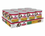 HILL'S SCIENCE DIET ENTRÉE WET DOG FOOD CHICKEN & BARLEY PUPPY CANS 12X370G