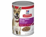 HILLS SCIENCE DIET ADULT BEEF AND BARLEY ENTREE CANNED DOG FOOD 370G