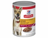 HILLS SCIENCE DIET ADULT CHICKEN AND BARLEY ENTREE CANNED DOG FOOD 370G