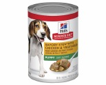 HILLS SCIENCE DIET SAVORY STEW WET DOG FOOD WITH CHICKEN AND VEGETABLES PUPPY CAN 363G