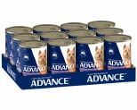 ADVANCE DOG CHICKEN, TURKEY AND RICE 410G (X12)