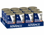 ADVANCE DOG CHICKEN AND SALMON 410G (X12)