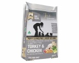 MEALS FOR MUTTS GRAIN FREE LARGE KIBBLE DRY DOG FOOD TURKEY AND CHICKEN PUPPY 9KG