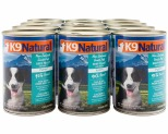 K9 NATURAL PUPPY BEEF & HOKI 370GX12