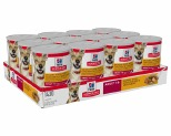 HILL'S SCIENCE DIET SAVORY STEW WET DOG FOOD WITH CHICKEN & VEGETABLES ADULT CANS 12X363G