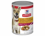 HILLS SCIENCE DIET ADULT SAVORY STEW CHICKEN AND VEGETABLE CANNED DOG FOOD 363G