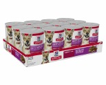 HILL'S SCIENCE DIET SAVORY STEW WET DOG FOOD WITH BEEF & VEGETABLES ADULT CANS 12X363G
