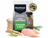BLACK HAWK LARGE BREED CHICKEN & RICE PUPPY FOOD 10KG