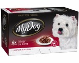 MY DOG 100GM CHEF SELECT BEEF LIVER (6PK)
