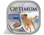 OPTIMUM DOG CHICKEN & RICE 100G (12)
