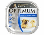 OPTIMUM DOG SALMON RICE VEGETABLE 100G
