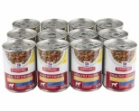 HILL'S SCIENCE DIET HEALTHY CUISINE WET DOG FOOD ROASTED CHICKEN, CARROTS & SPINACH STEW ADULT CAN 12X354G