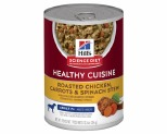 HILL'S SCIENCE DIET HEALTHY CUISINE SENIOR WET DOG FOOD ROASTED CHICKEN, CARROTS & SPINACH STEW ADULT CANS 354G