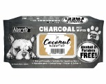 ABSORB PLUS CHARCOAL PET WIPES - COCONUT 80 SHEETS
