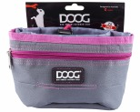 DOOG TREAT POUCH GREY & PINK LRG