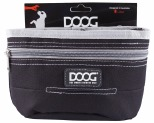 DOOG TREAT POUCH BLACK & GREY LRG