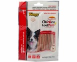 WANPY DOG TREATS CHICKEN & FISH SANDWICH 100G
