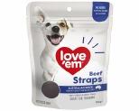 LOVE EM BEEF STRAPS 150G