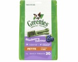 GREENIES BLUEBERRY DOG DENTAL CHEWS PETITE 340G