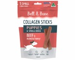 BELL AND BONE COLLAGEN CHEW STICKS FOR PUPPIES AND SMALL DOGS - BEEF