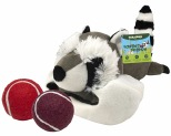 GNAWSOME FOREST FRIEND LARGE RACOON 2 BALL STUFFER