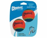 CHUCKIT TENNIS BALLS 2PK MEDIUM (6CM DIAM)