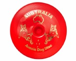 AUSSIE DOG FLOPPY DISC HARD RED