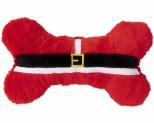 FUZZYARD XMAS DOG TOY ELF BONE RED LARGE