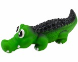 SQUEAKY LATEX CROCODILE - 21CM