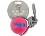 PLANET DOG ORBEE TUFF FETCH BALL WITH ROPE PINK*+