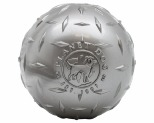 "PLANET DOG ORBEE TUFF DIAMOND PLATE BALL 4"" - SILVER"