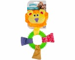 PAWISE DOG TOY TPR RING LION