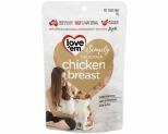 LOVE EM CHICKEN BREAST DOG TREATS 55G
