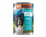 K9 NATURAL BEEF AND HOKI FEAST 370G X 12