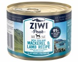 ZIWIPEAK MACKEREL & LAMB DOG FOOD 170G