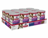 HILL'S SCIENCE DIET SAVORY STEW WET DOG FOOD WITH BEEF & VEGETABLES ADULT 7+ 12X363G