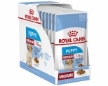 ROYAL CANIN MEDIUM PUPPY WET FOOD GRAVY POUCH 10X140G