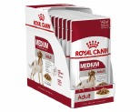 ROYAL CANIN MEDIUM ADULT WET FOOD GRAVY POUCH 10X140G