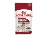 ROYAL CANIN MEDIUM ADULT WET FOOD GRAVY POUCH 140G