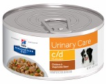 HILL'S PRESCRIPTION DIET C/D MULTICARE URINARY CARE WET DOG FOOD CHICKEN & VEGETABLE STEW CAN 156G**