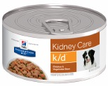 HILL'S PRESCRIPTION DIET K/D KIDNEY CARE WET DOG FOOD CHICKEN & VEGETABLE STEW CAN 156G