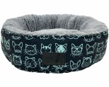 LA DOGGIE VITA KITTY CLUB ROUND BED