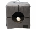 LA DOGGIE VITA CUBE GREY CAT BED