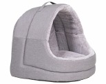 LA DOGGIE VITA CAT HOUSE HOODED GREY