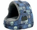 LA DOGGIE VITA CAT HOUSE HOODED INDIGO