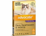 ADVOCATE FOR LARGE CATS OVER 4KG 3 PACK (PURPLE)