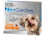 NEXGARD FOR DOGS 2-4KG 3'S ORANGE